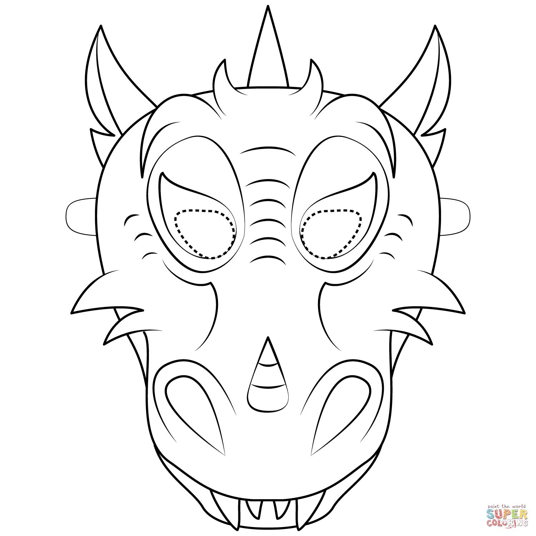 Dragon Mask Coloring Page   Free Printable Coloring Pages - Dragon Mask Printable Free