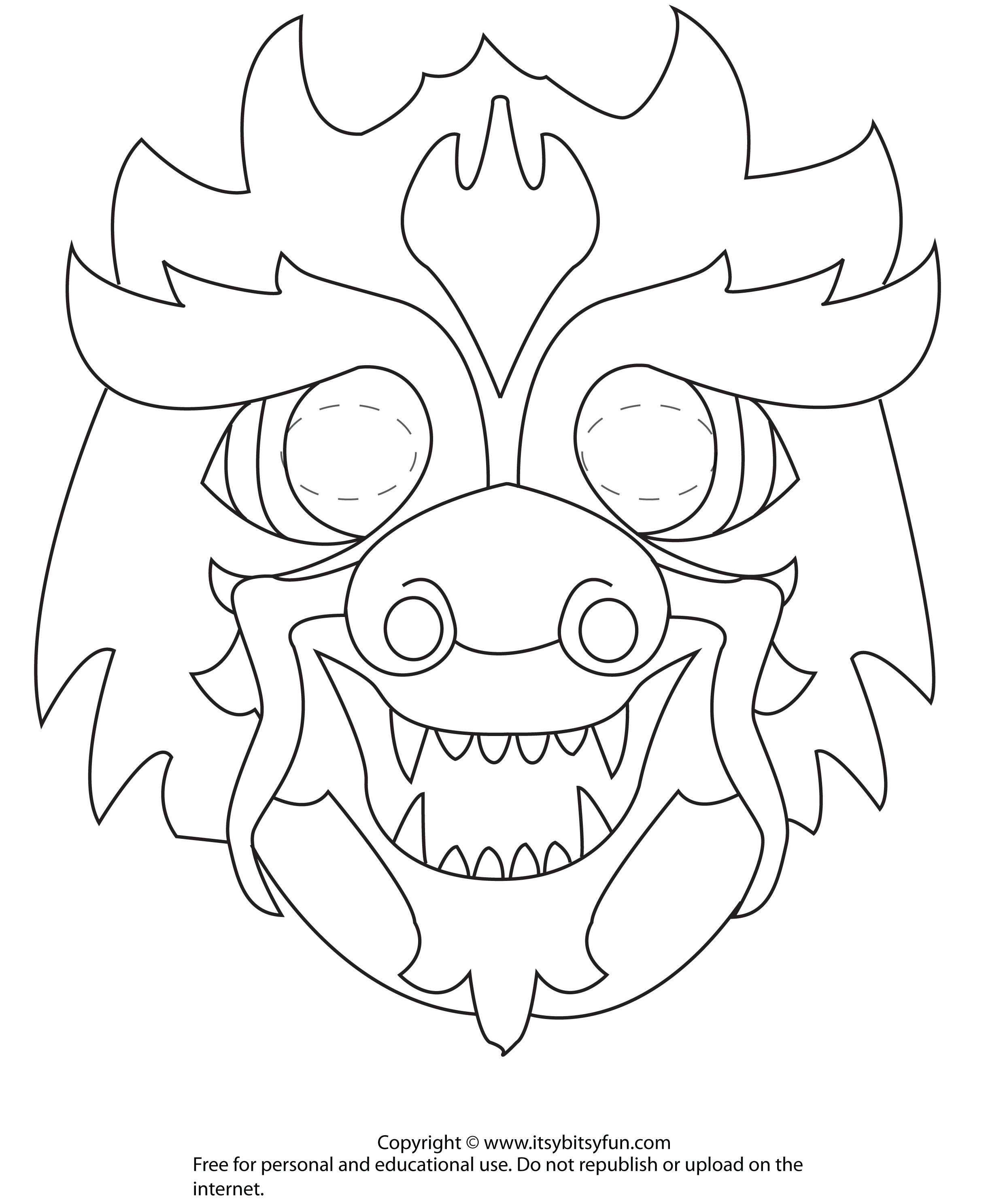 Dragon Mask To Color   Z Girl Scouts Chinese New Year Celebration - Dragon Mask Printable Free