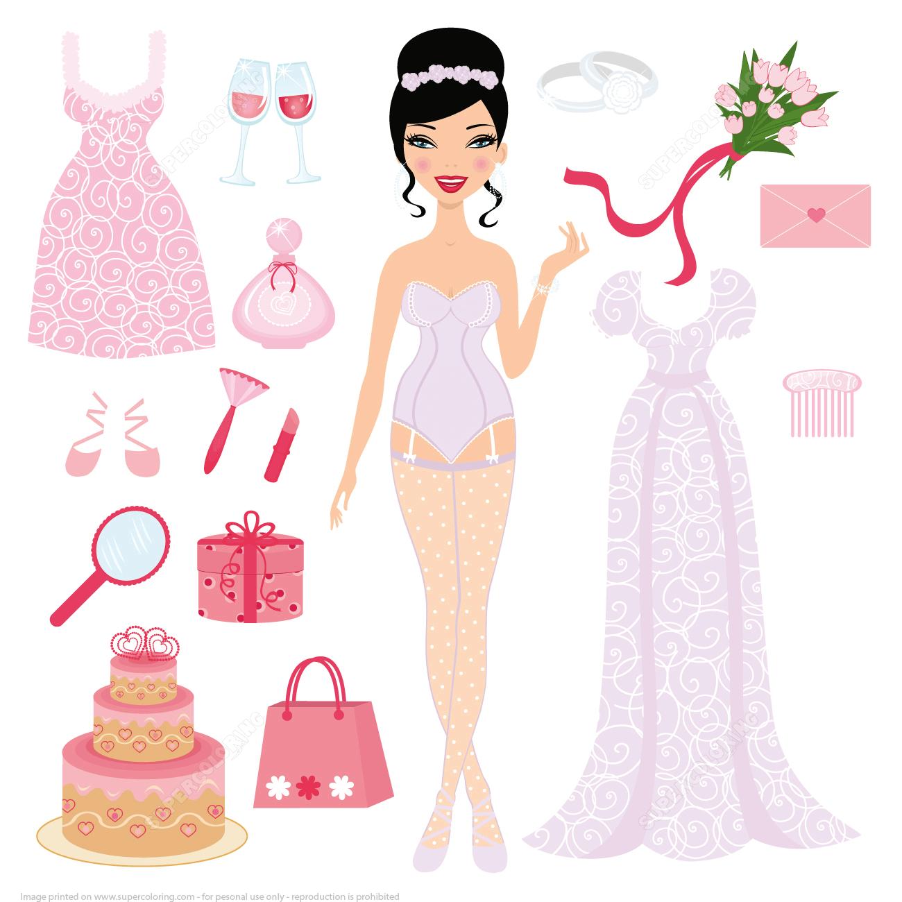 Dress Up Paper Dolls   Free Printable Papercraft Templates - Free Printable Dress Up Paper Dolls