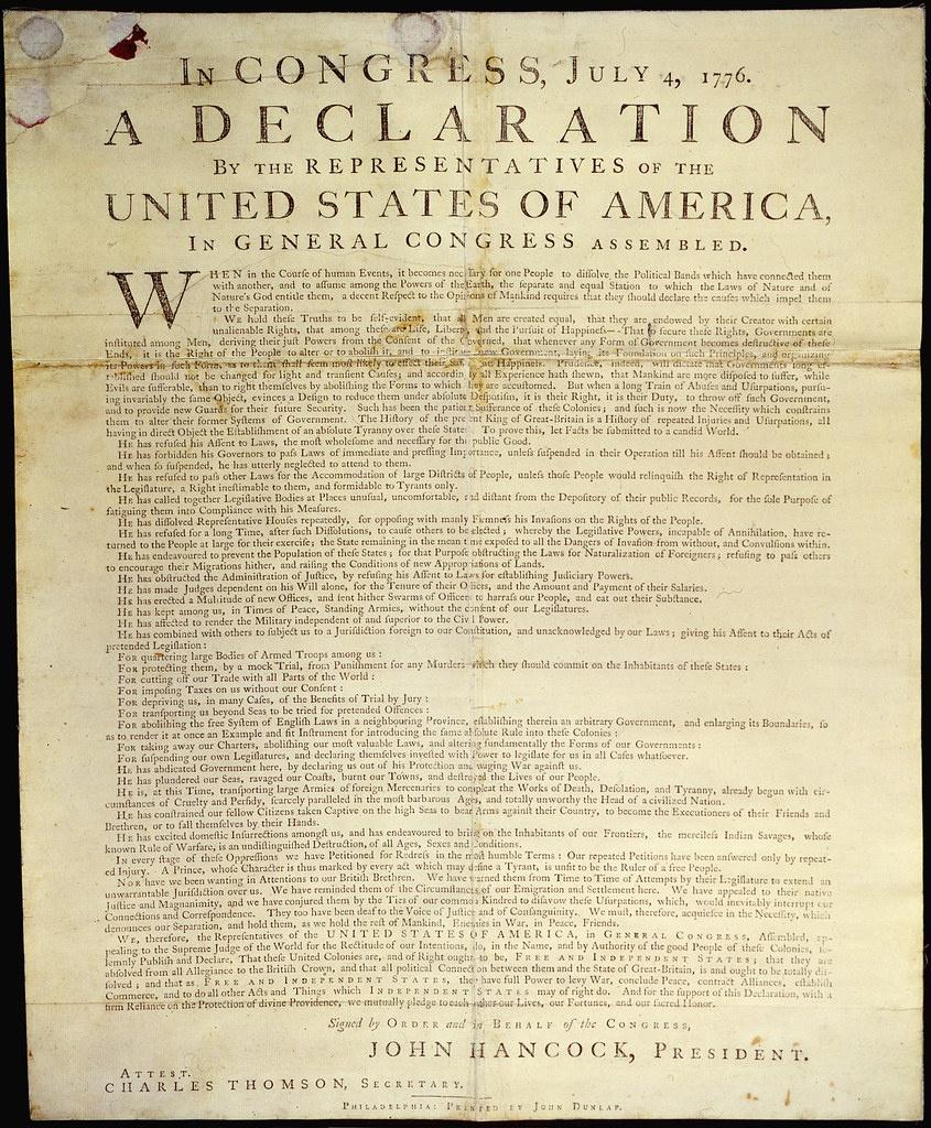Dunlap Broadside [Declaration Of Independence]   Original Ca…   Flickr - Free Printable Copy Of The Declaration Of Independence
