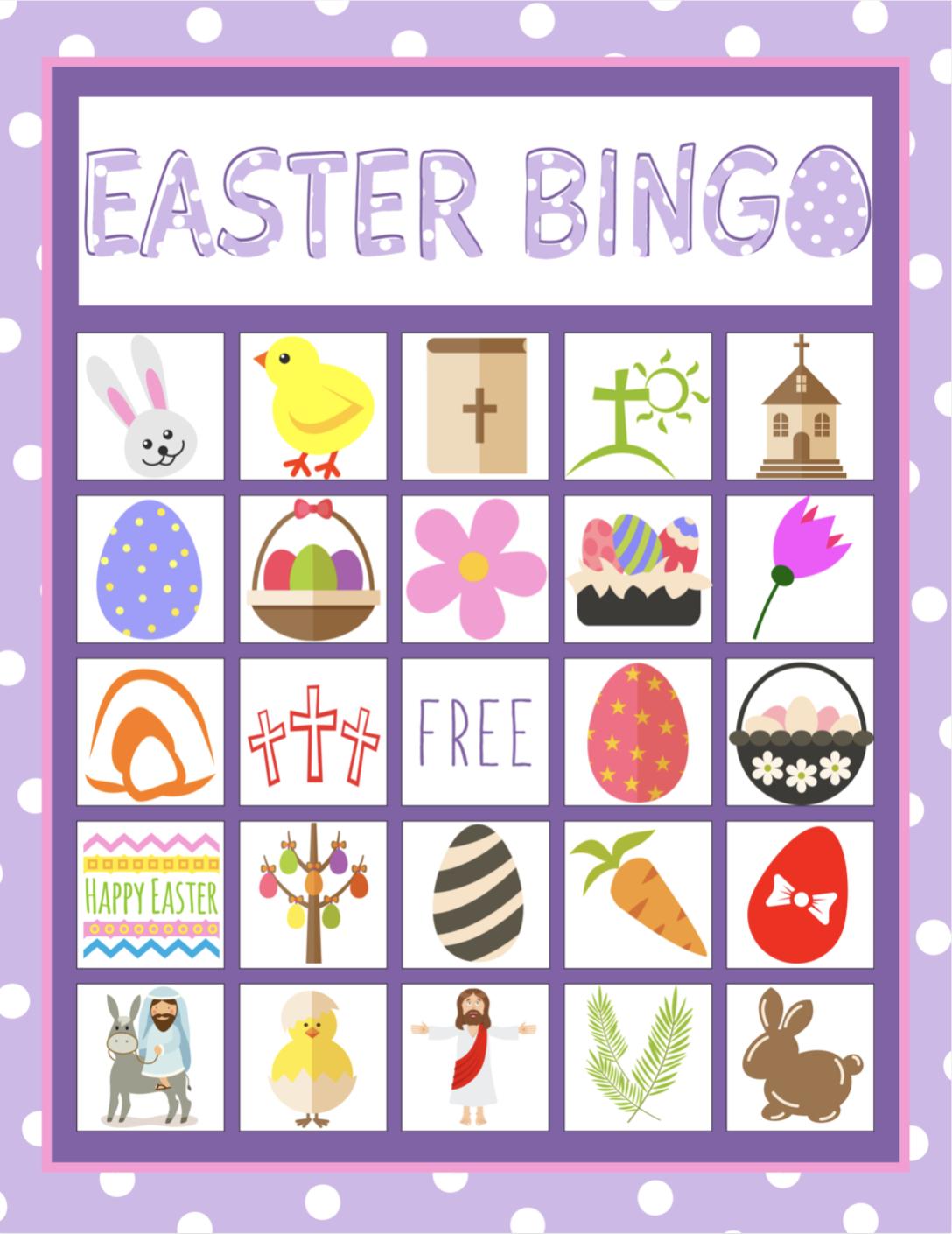 Easter Bingo Game For Kids | Children's Pastor Only | Easter Bingo - Free Printable Religious Easter Bingo Cards