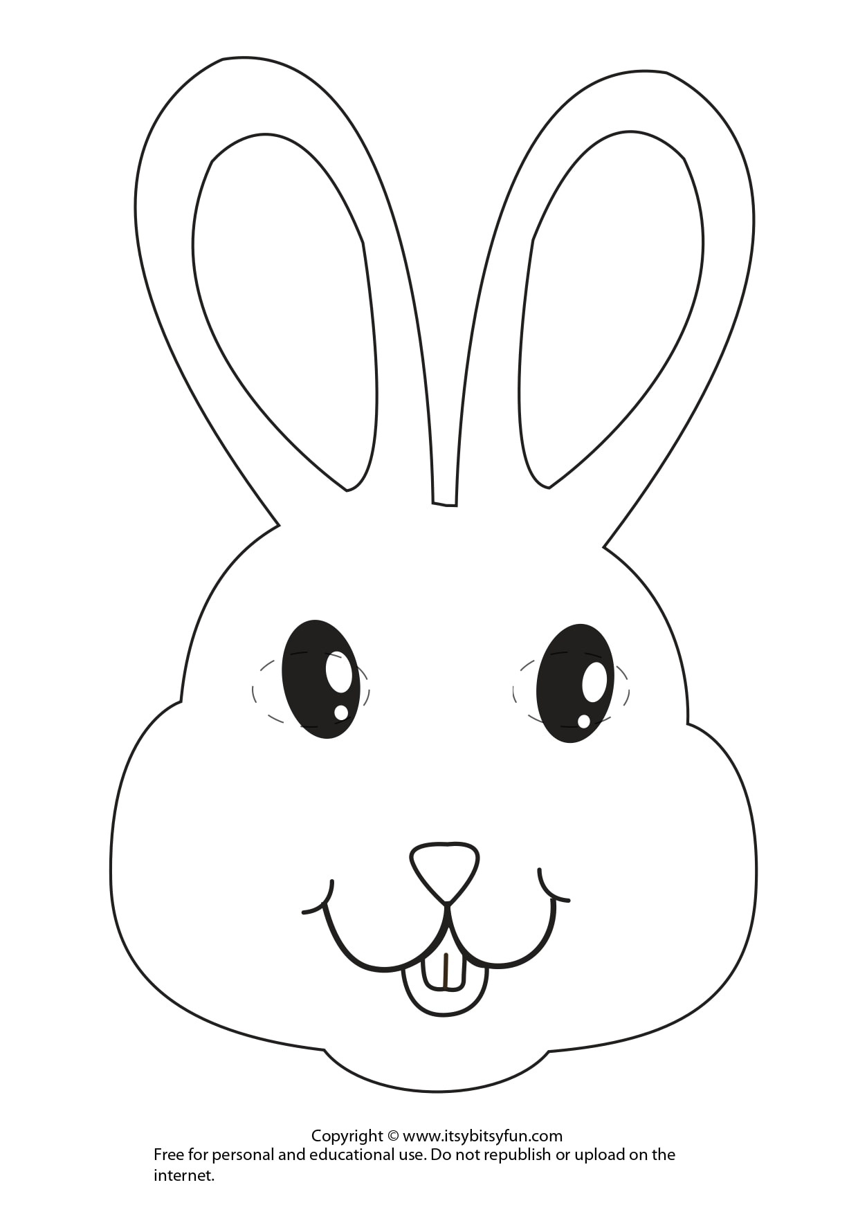 Easter Masks - Bunny Rabbit And Chick Template - Itsy Bitsy Fun - Free Printable Bunny Pictures