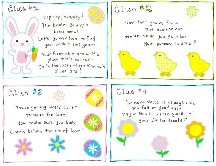 Easter Scavenger Hunt Riddles Free Printable
