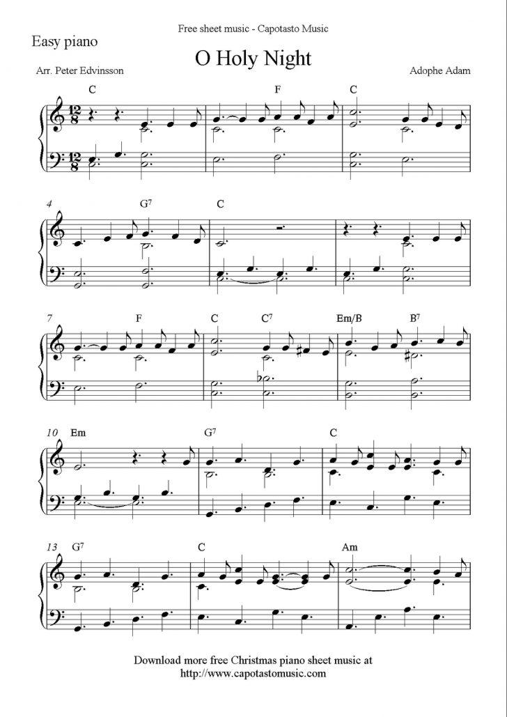 Christmas Music For Piano Free Printable