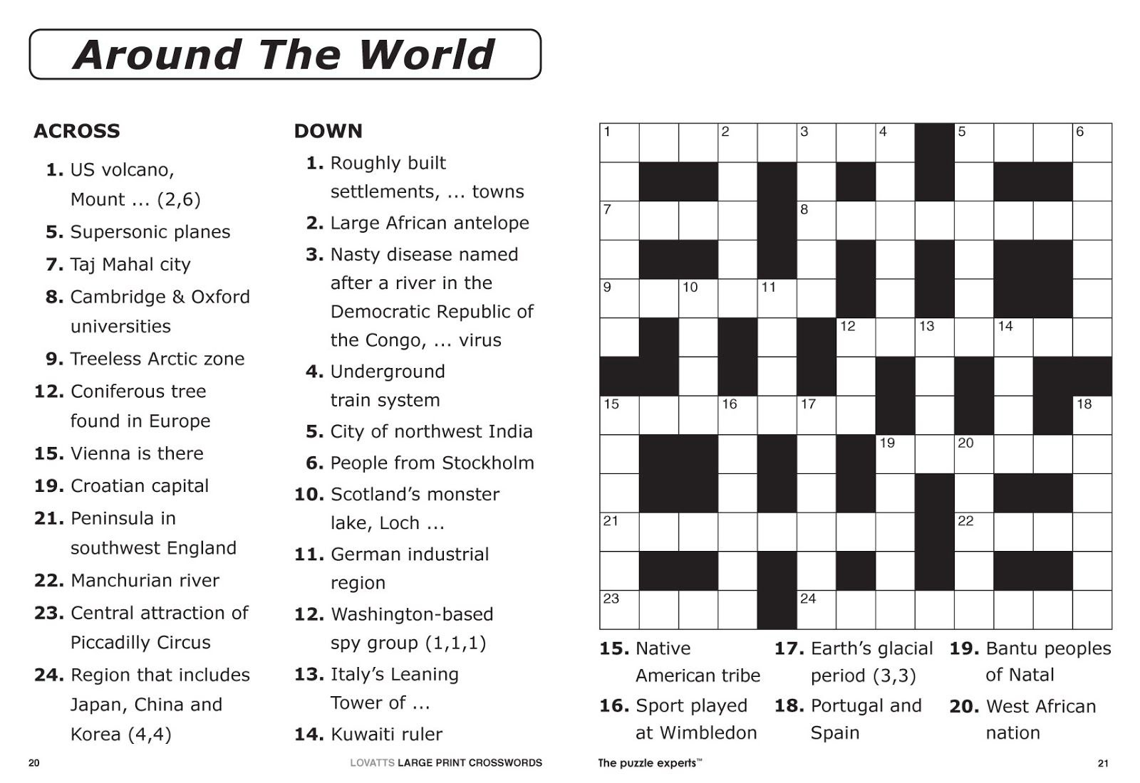 Easy Printable Crossword Puzzles | Elder Care & Dementia Care - Free Printable Word Search Puzzles Adults Large Print