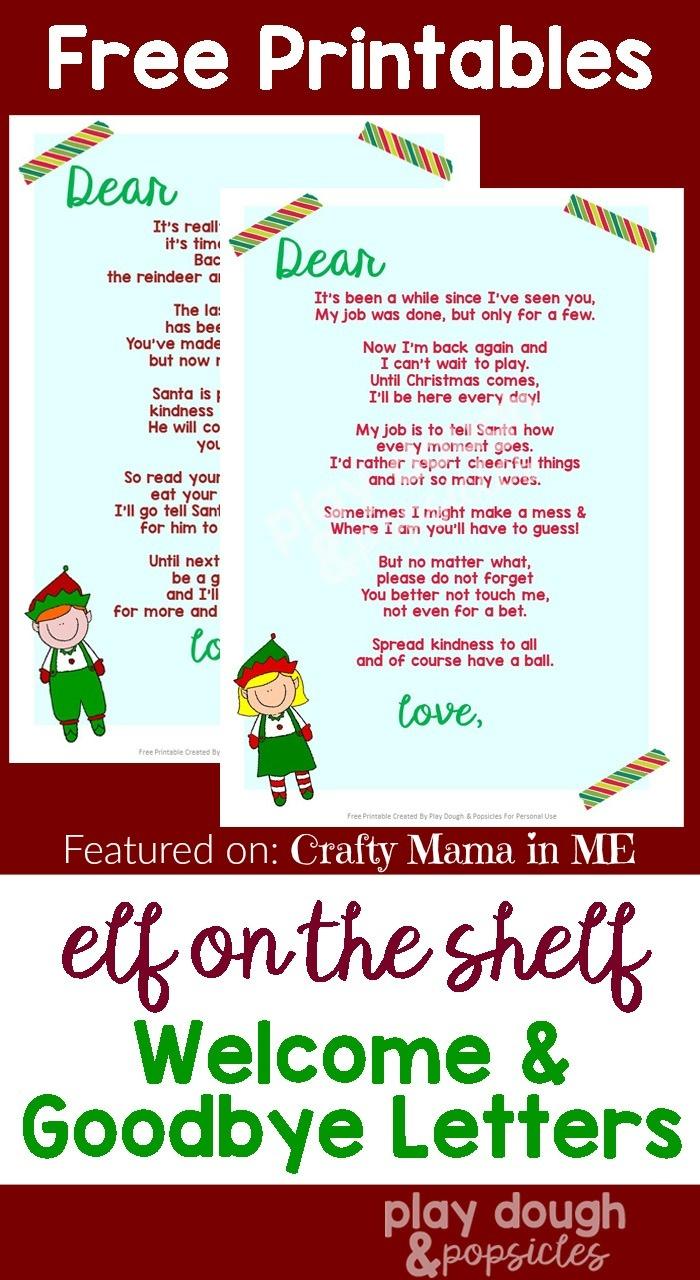 Elf On The Shelf Goodbye Letter Free Printable