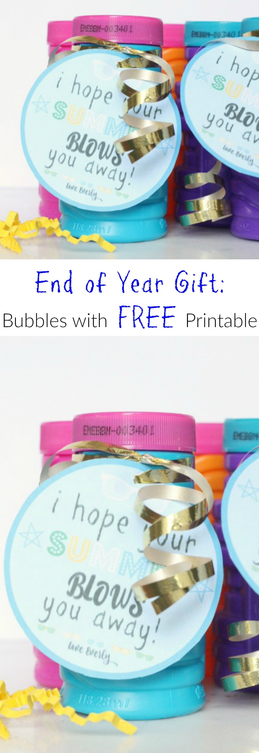 End Of Year Gift: Bubbles With Free Printable - Houston Mommy And - Free Printable Gift Tags For Bubbles