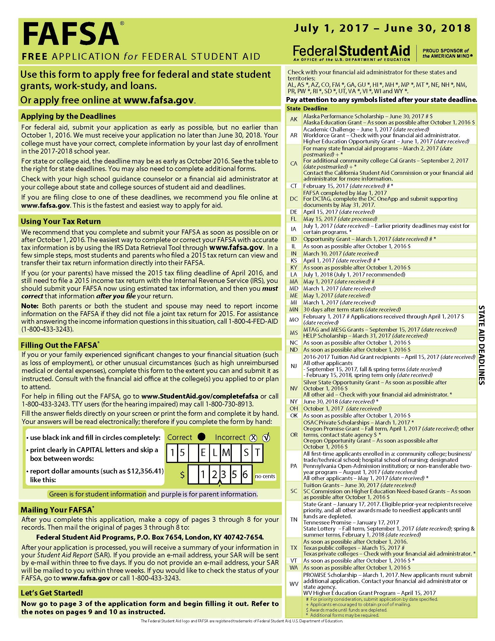 Fafsa Form Archive: Recent Changes | Edvisors - Free Printable Fafsa Application Form