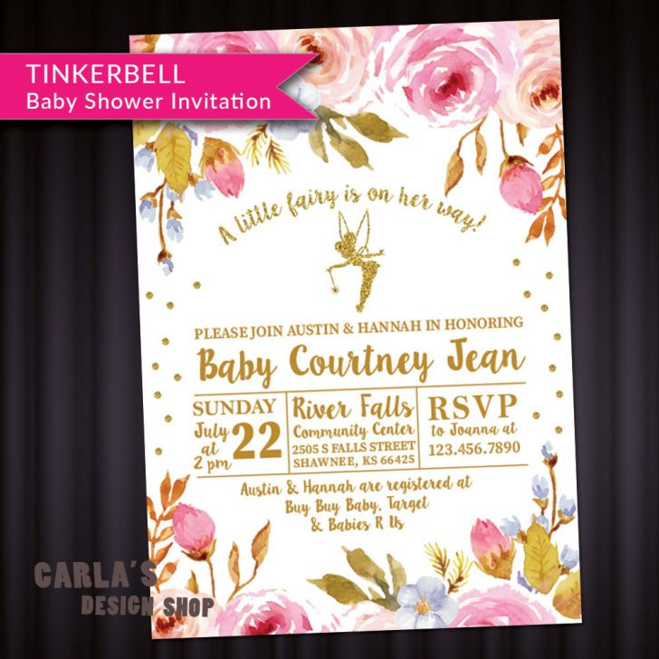 Free Printable Tinkerbell Baby Shower Invitations