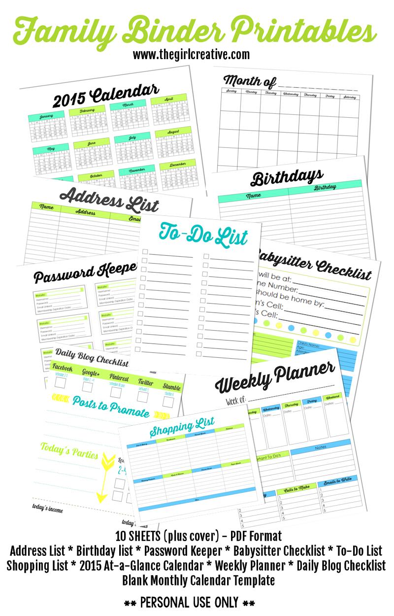 Family Binder Printables   Family Binder - Tuts, Ideas & Printables - Free Printable Household Binder