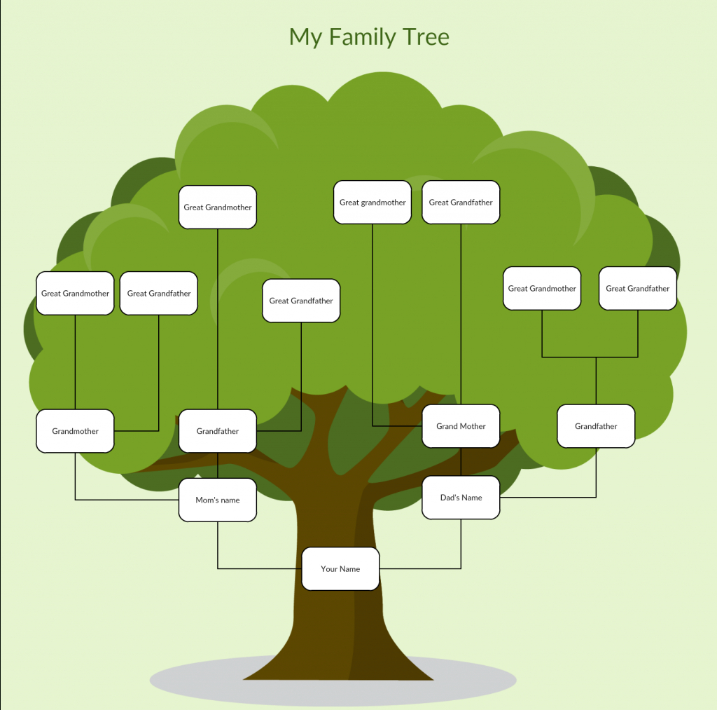 Family Tree Templates To Create Family Tree Charts Online - Creately - Family Tree Maker Online Free Printable