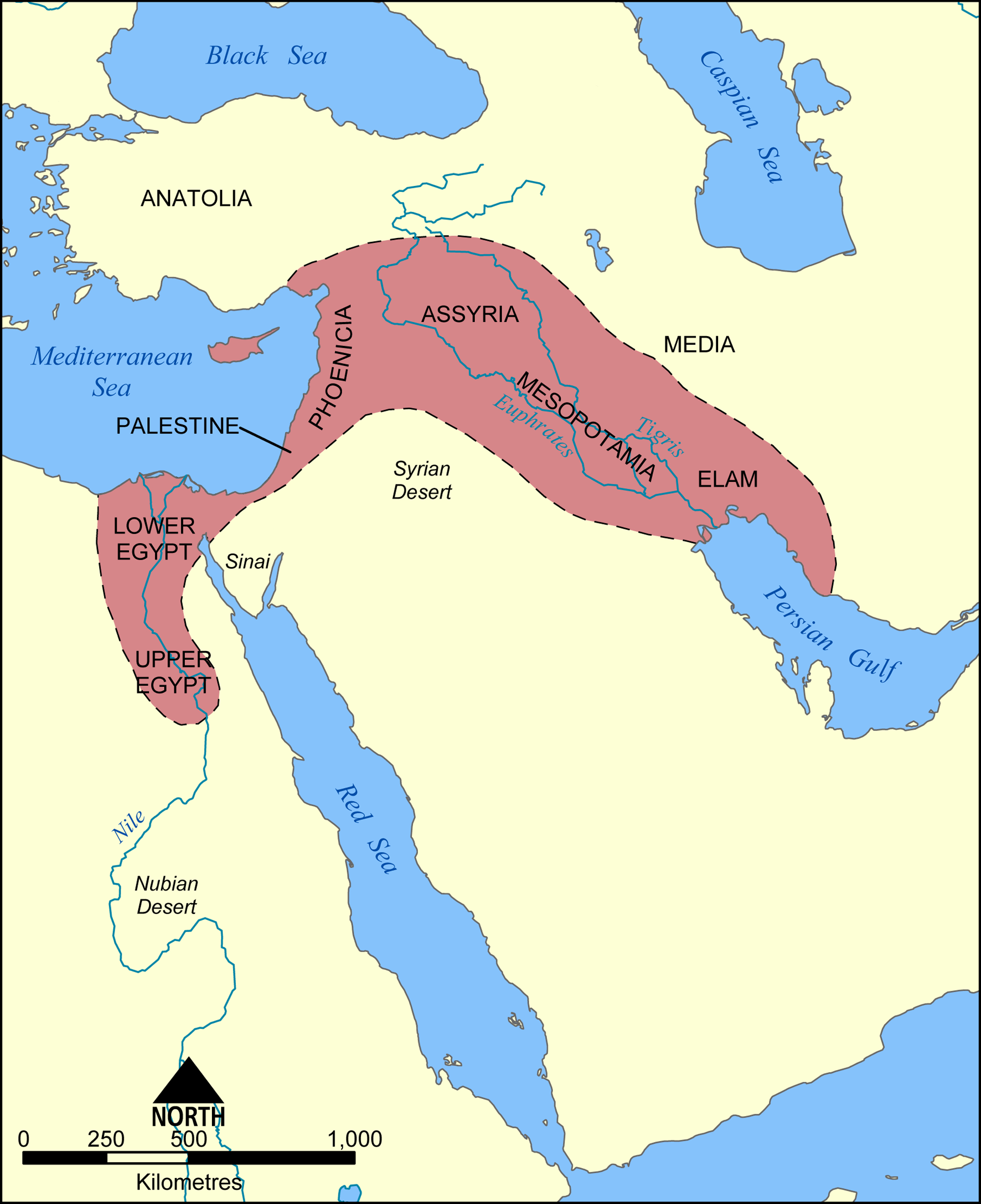 Fertile Crescent Map - Color Week 1   Cycle 1 Geo   Cradle Of - Free Printable Map Of Mesopotamia