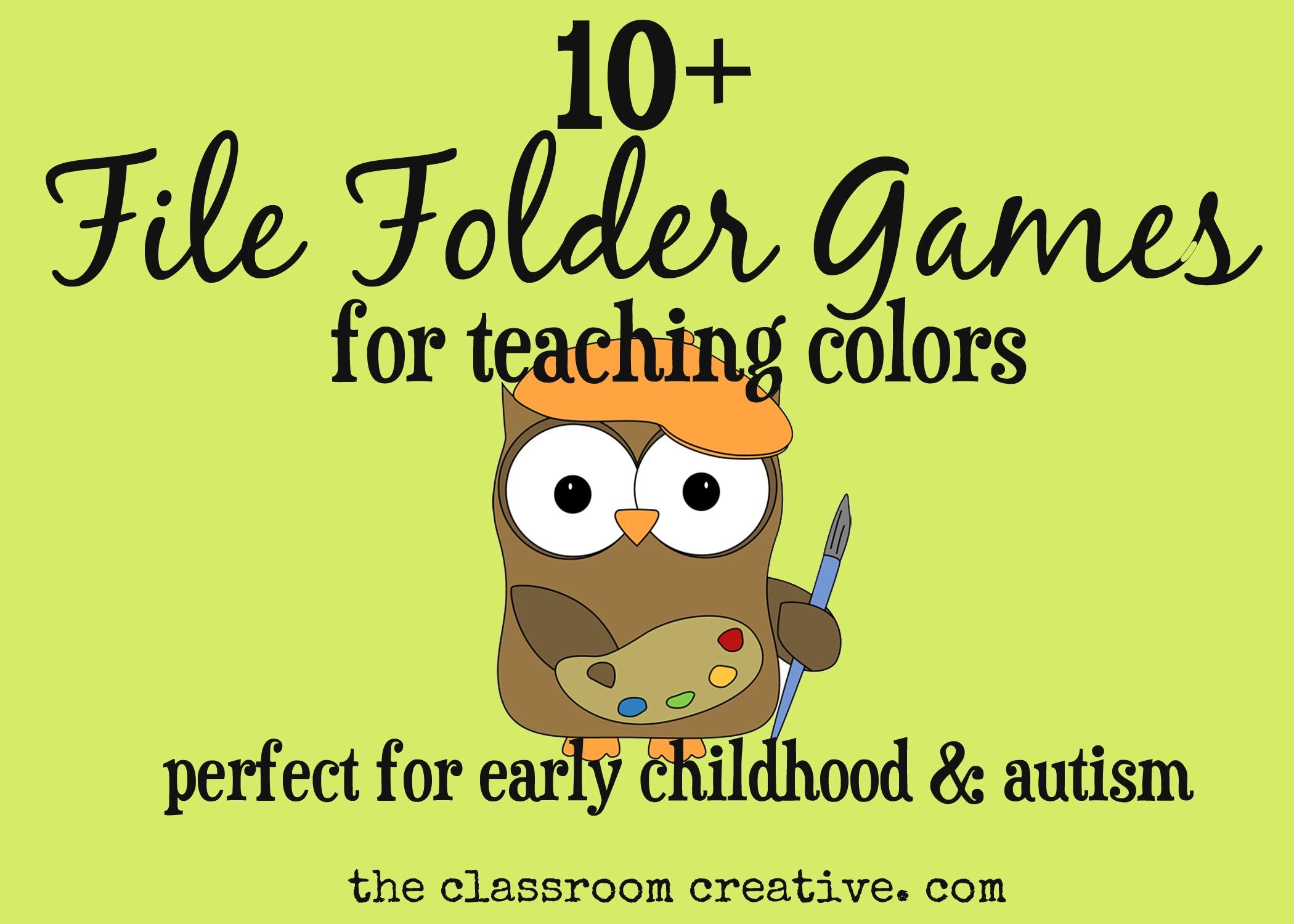 File Folder Games For Teaching Colors - Free Printable File Folders For Preschoolers