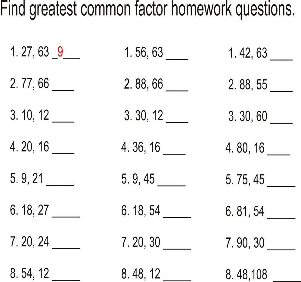 Find The Greatest Common Factor | Math | Factors, Multiples, Math - Free Printable Greatest Common Factor Worksheets