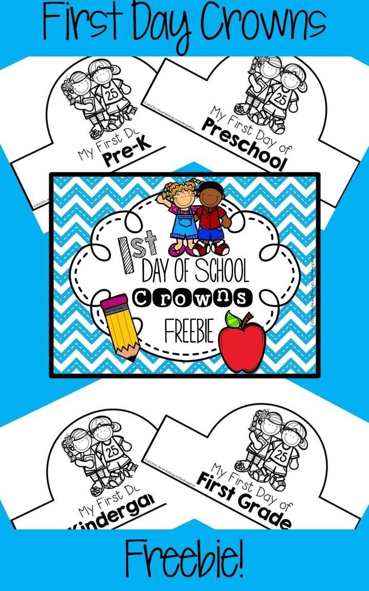 First Day Of School Crowns Freebie   School   Starting School, First - Free Printable First Day Of School Certificate