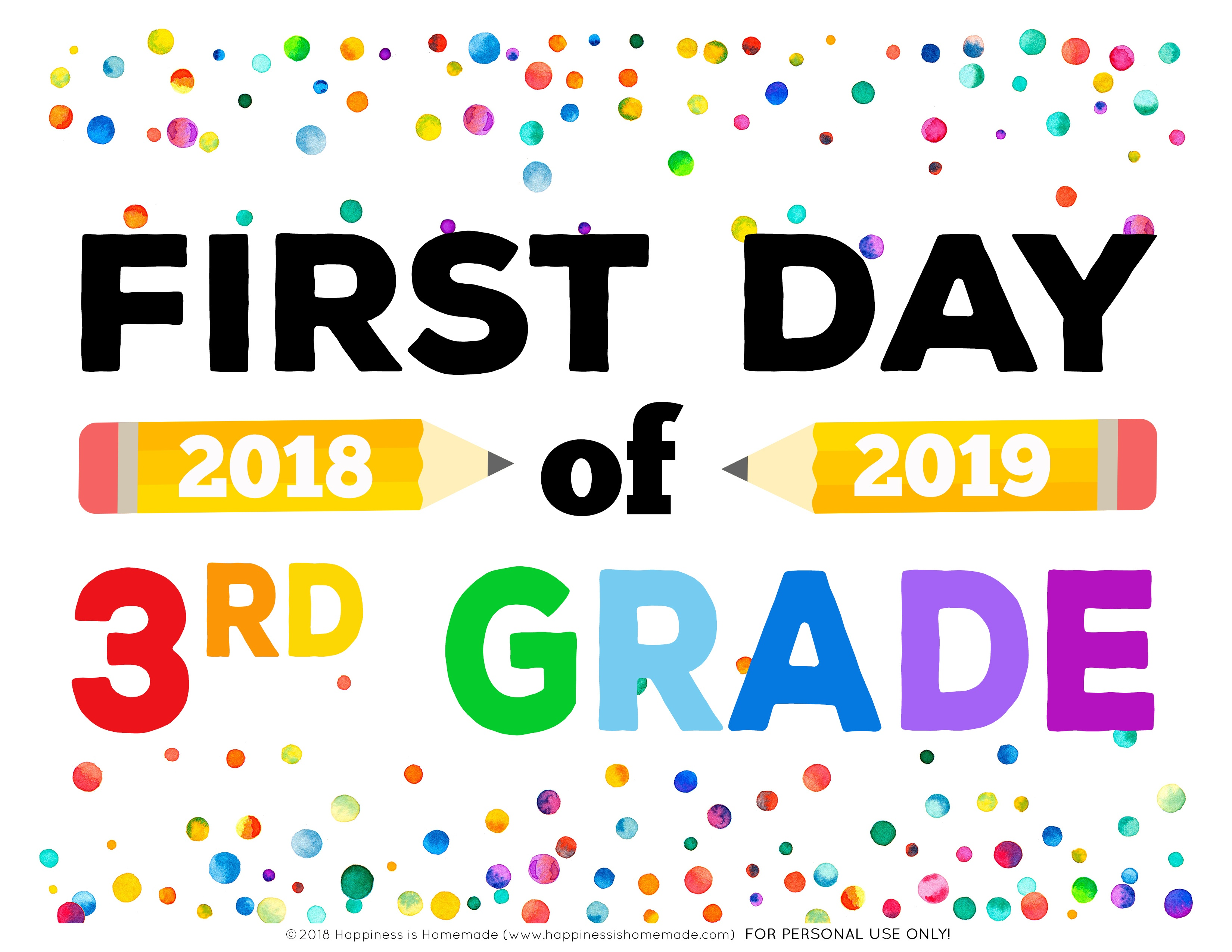 First Day Of School Signs - Free Printables - Happiness Is Homemade - Free Printable First Day Of School Certificate