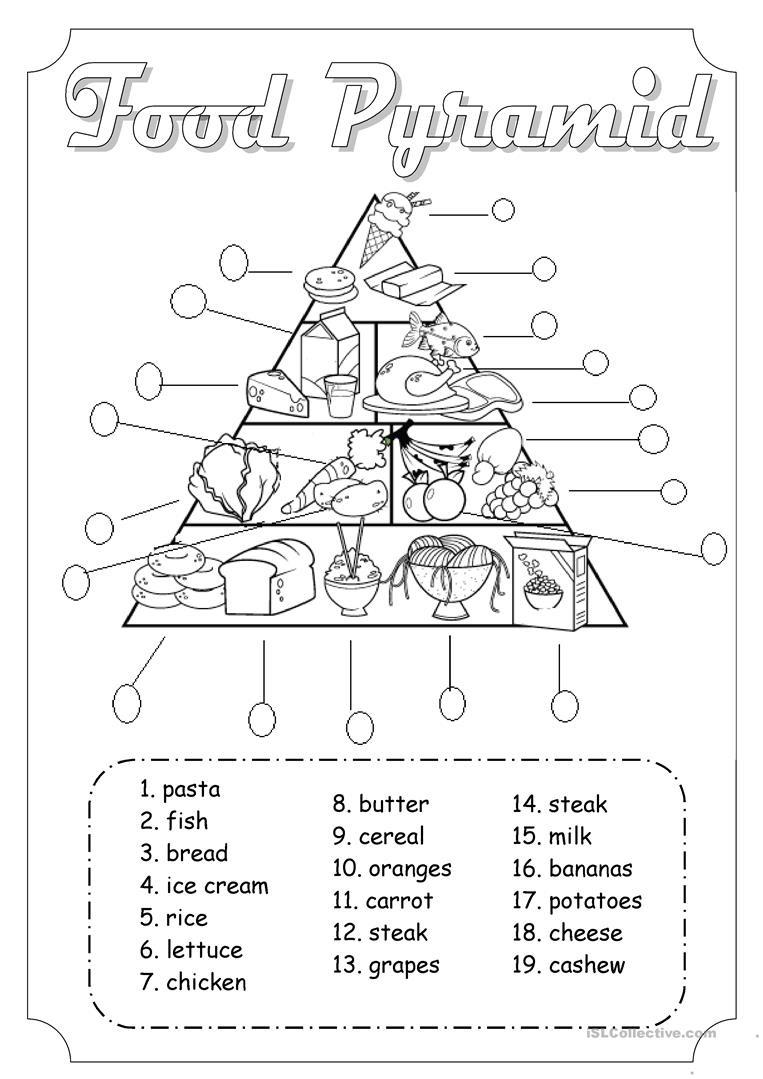 Food Pyramid Worksheet - Free Esl Printable Worksheets Madeteachers - Free Printable Food Pyramid