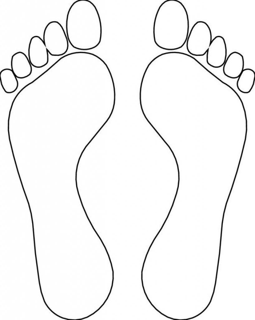 Footprint Template Clipart | Free Download Best Footprint Template - Free Printable Footprints