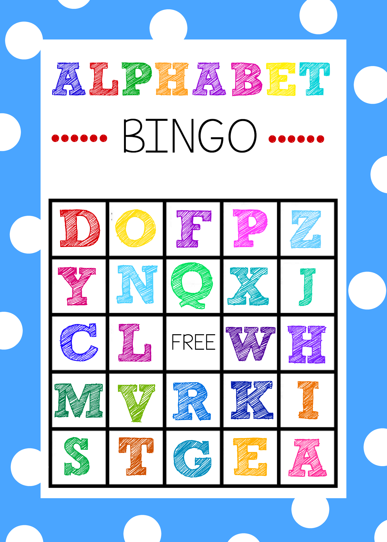 Free Alphabet Bingo Boards. Such A Fun Abc Game For Kids!   Abc - Free Printable Alphabet Board Games