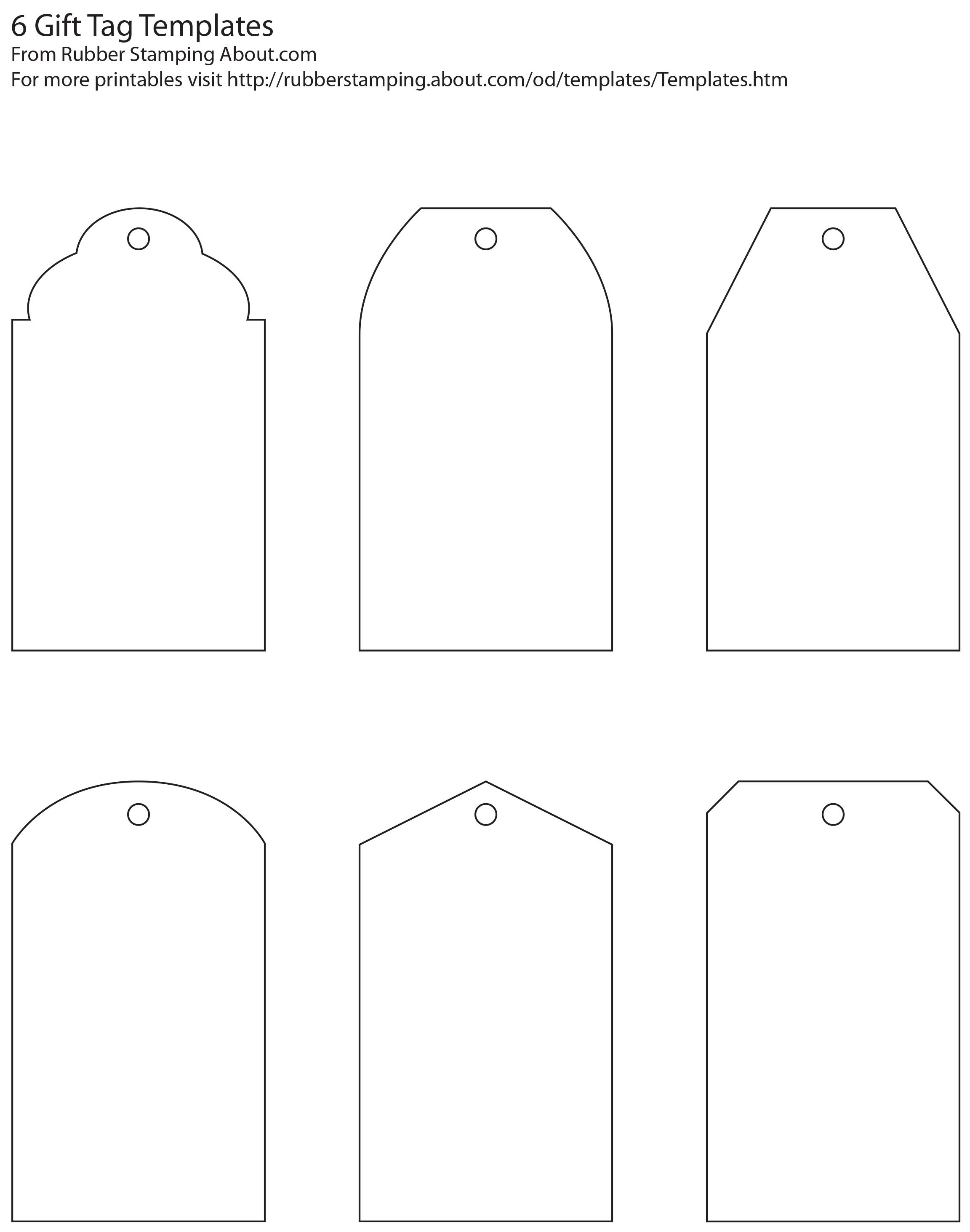 Free And Whimsical Printable Gift Tag Templates   Great Idea - Free Printable Gift Bag Tags