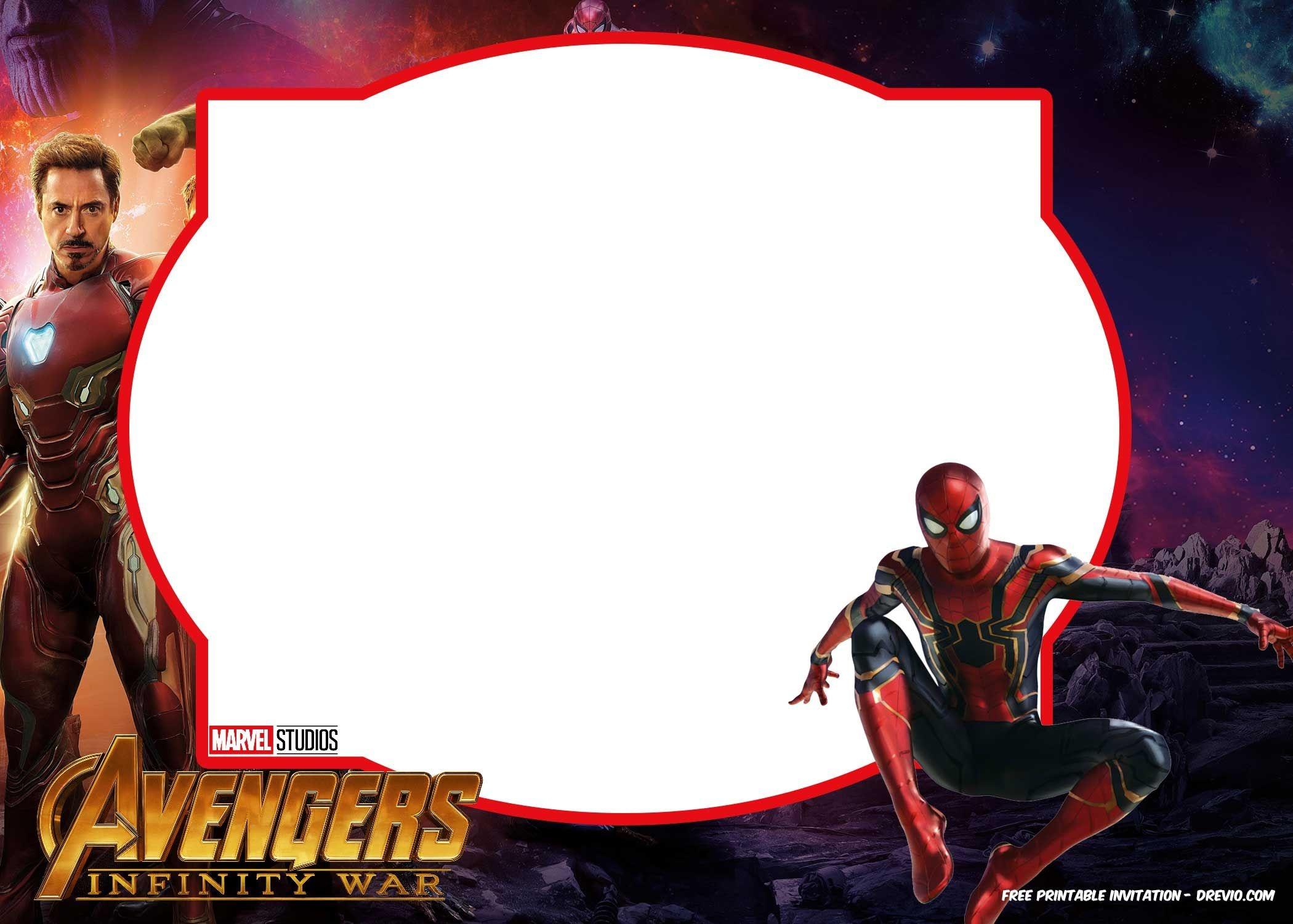 Free Avengers Infinity Wars Birthday Invitation Templates - All - Avengers Party Invitations Printable Free