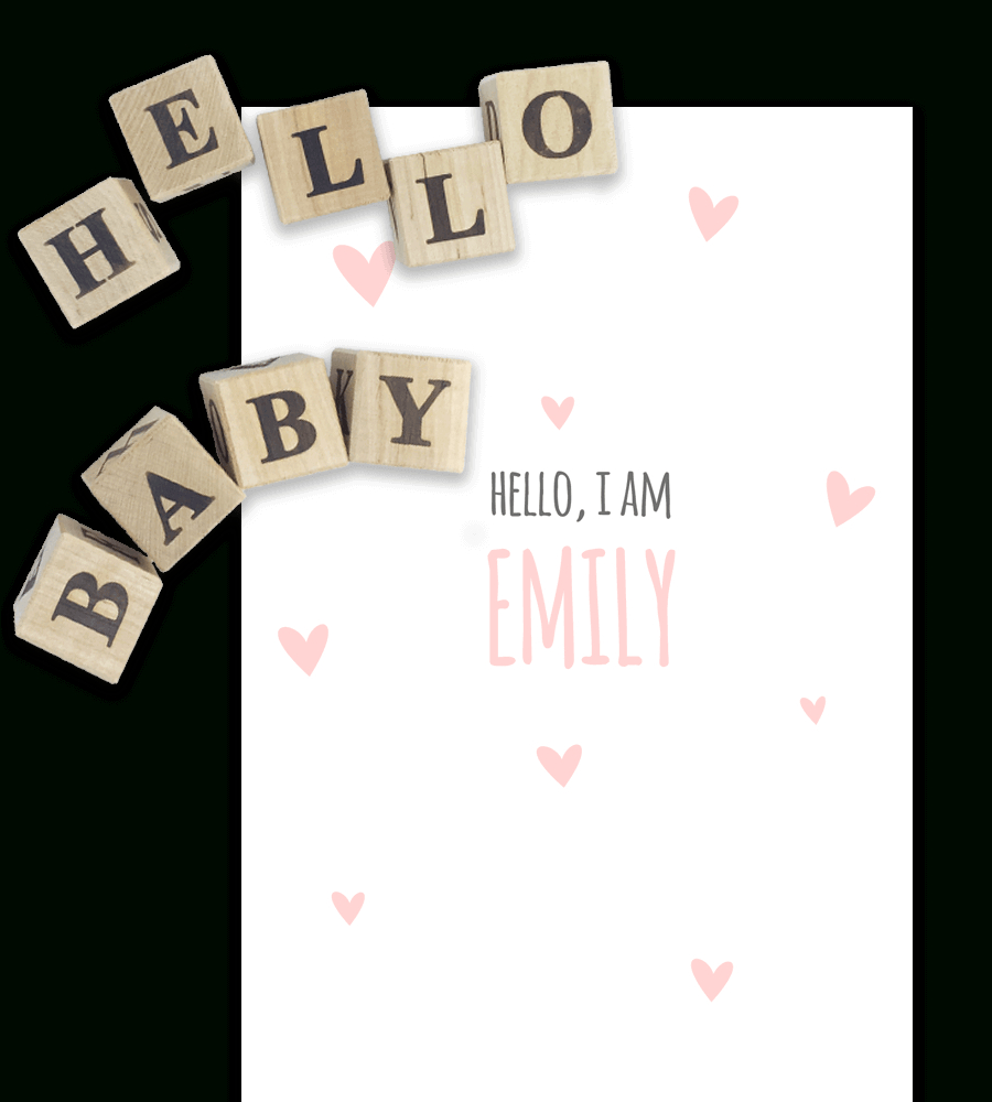 Free Birth Announcement Templates For Word | Temploola - Free Printable Baby Announcement Templates