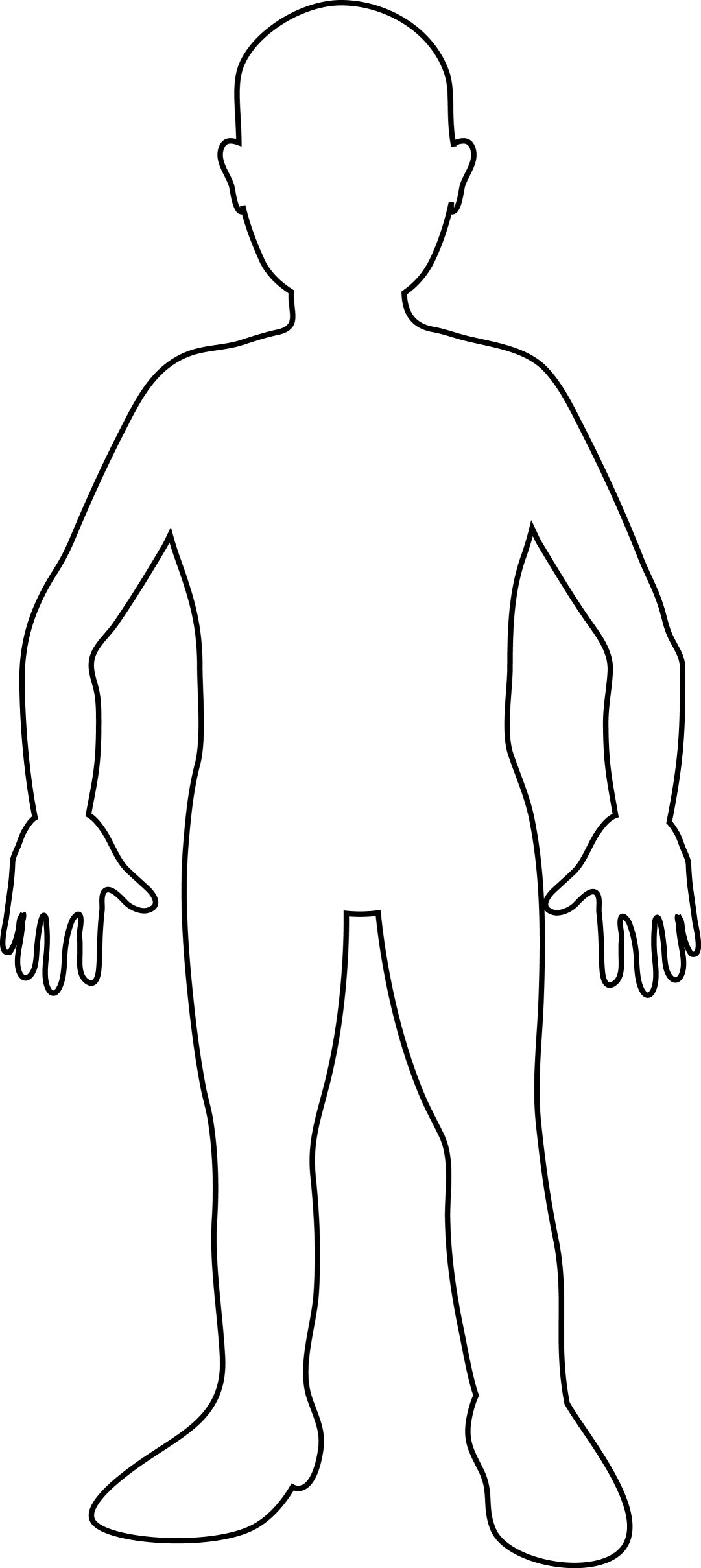 Free Blank Person Template, Download Free Clip Art, Free Clip Art On - Free Printable Human Body Template