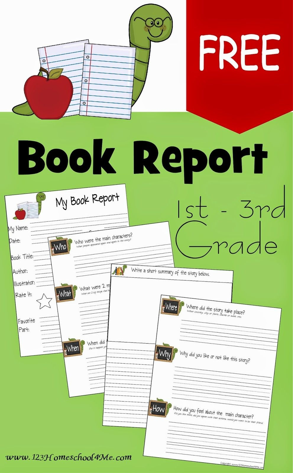 Free Book Report Template | Play Activities For Kids | 1St Grade - Free Printable Books For 5Th Graders