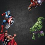 Free Chalkboard Avenger Birthday Invitation   Ry 4 Bd   Birthday   Avengers Party Invitations Printable Free
