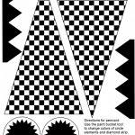 Free Checkered Flag Printables & More | Ideas | Hot Wheels Party   Free Printable Checkered Flag Banner