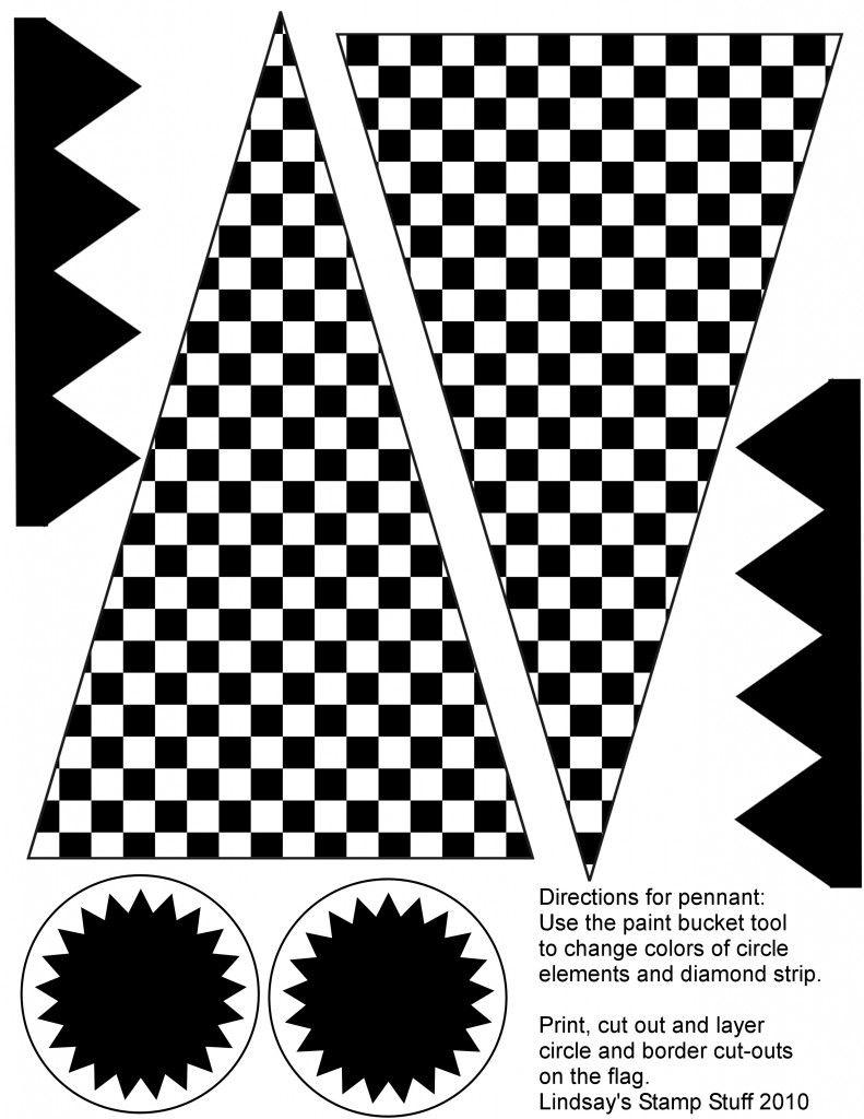 Free Checkered Flag Printables & More | Ideas | Hot Wheels Party - Free Printable Checkered Flag Banner