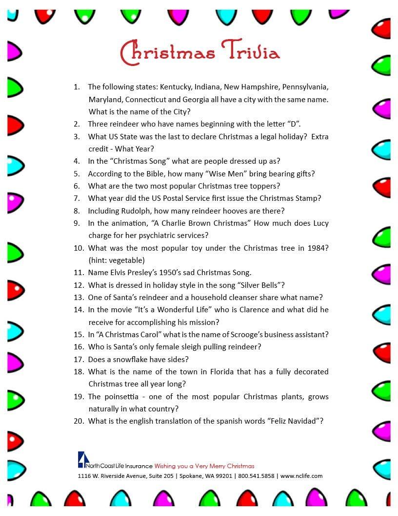 Free Christmas Bingo Free Printable - Google Search | Christmas - Kwanzaa Trivia Free Printable