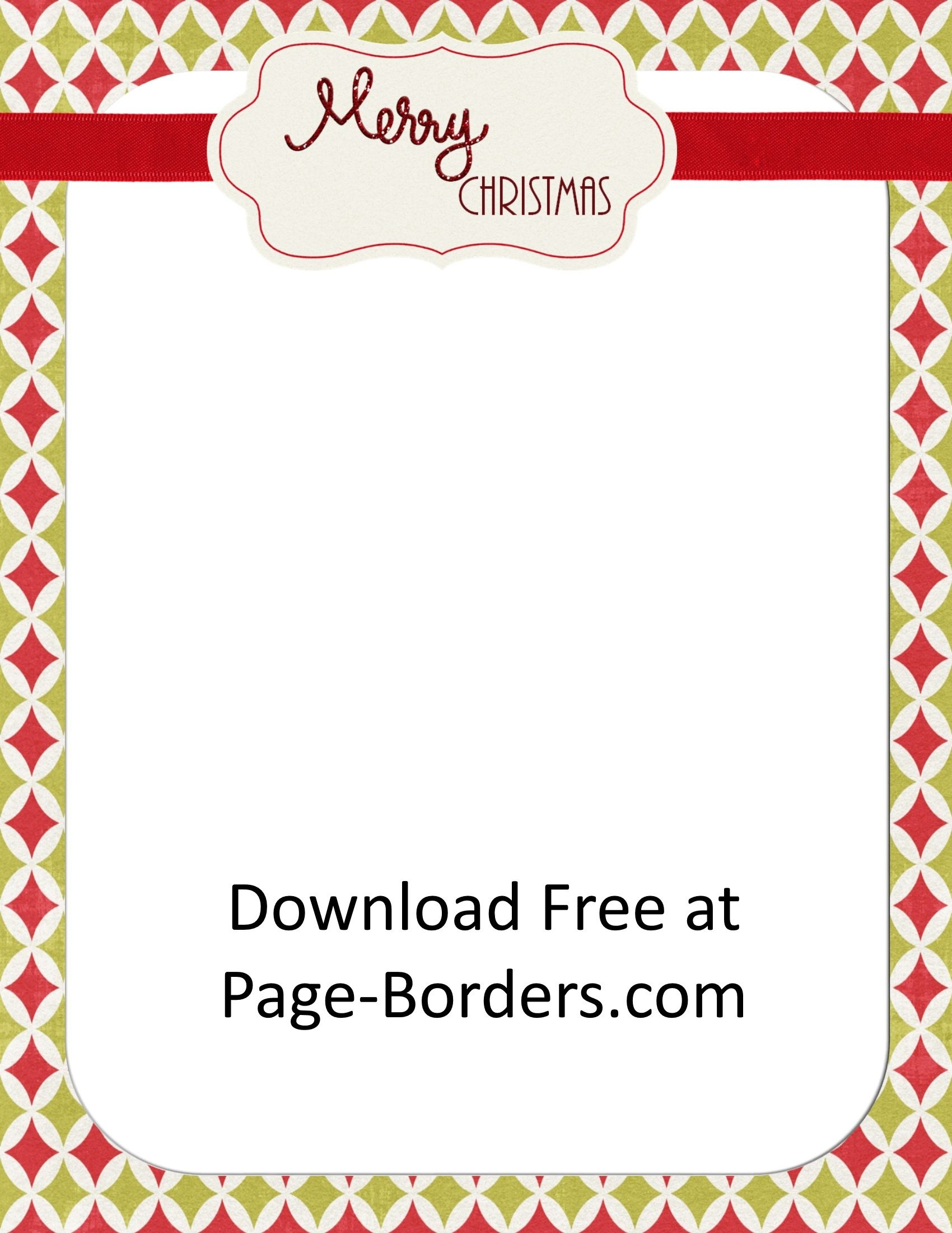 Free Christmas Border | Customize Online | Personal & Commercial Use - Free Printable Elf Stationery