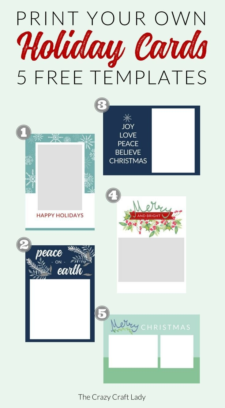 Free Christmas Card Templates | Do It Yourself Today | Christmas - Free Printable Cards No Download Required