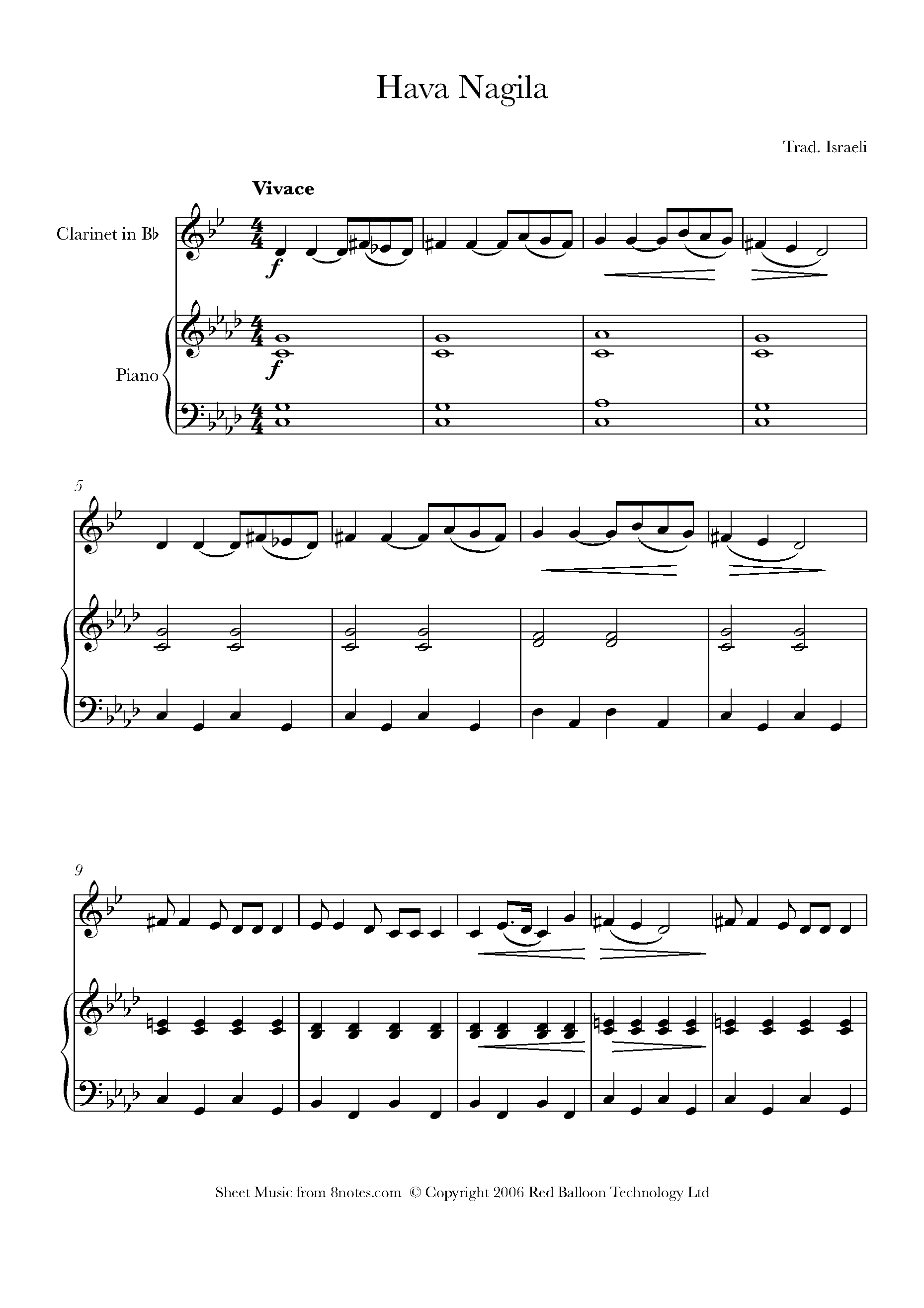 Free Clarinet Sheet Music, Lessons & Resources - 8Notes - Free Printable Clarinet Music
