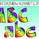 Free Clipart Letters And Numbers | Free Download Best Free Clipart   Free Printable Rainbow Letters