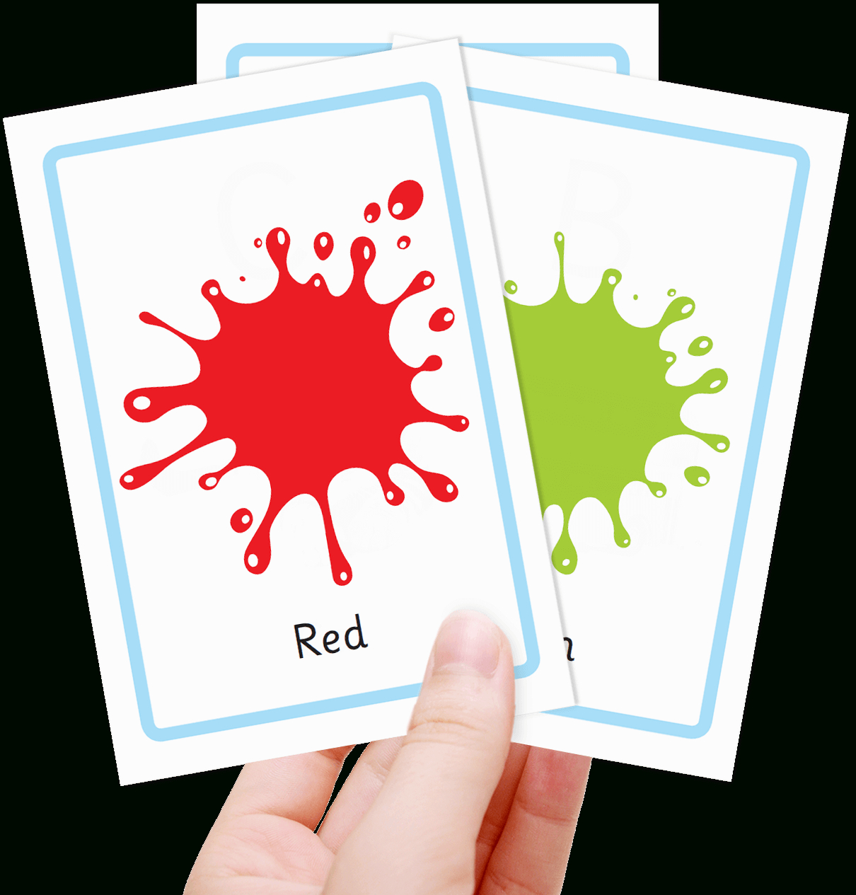 Free Colour Flashcards For Kids - Totcards - Free Printable Colour Flashcards