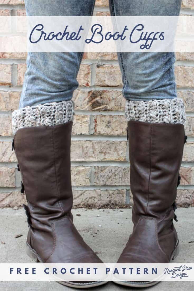 Free Crochet Boot Cuff Pattern - How To Crochet Boot Cuffs - Free Printable Crochet Patterns For Boot Cuffs