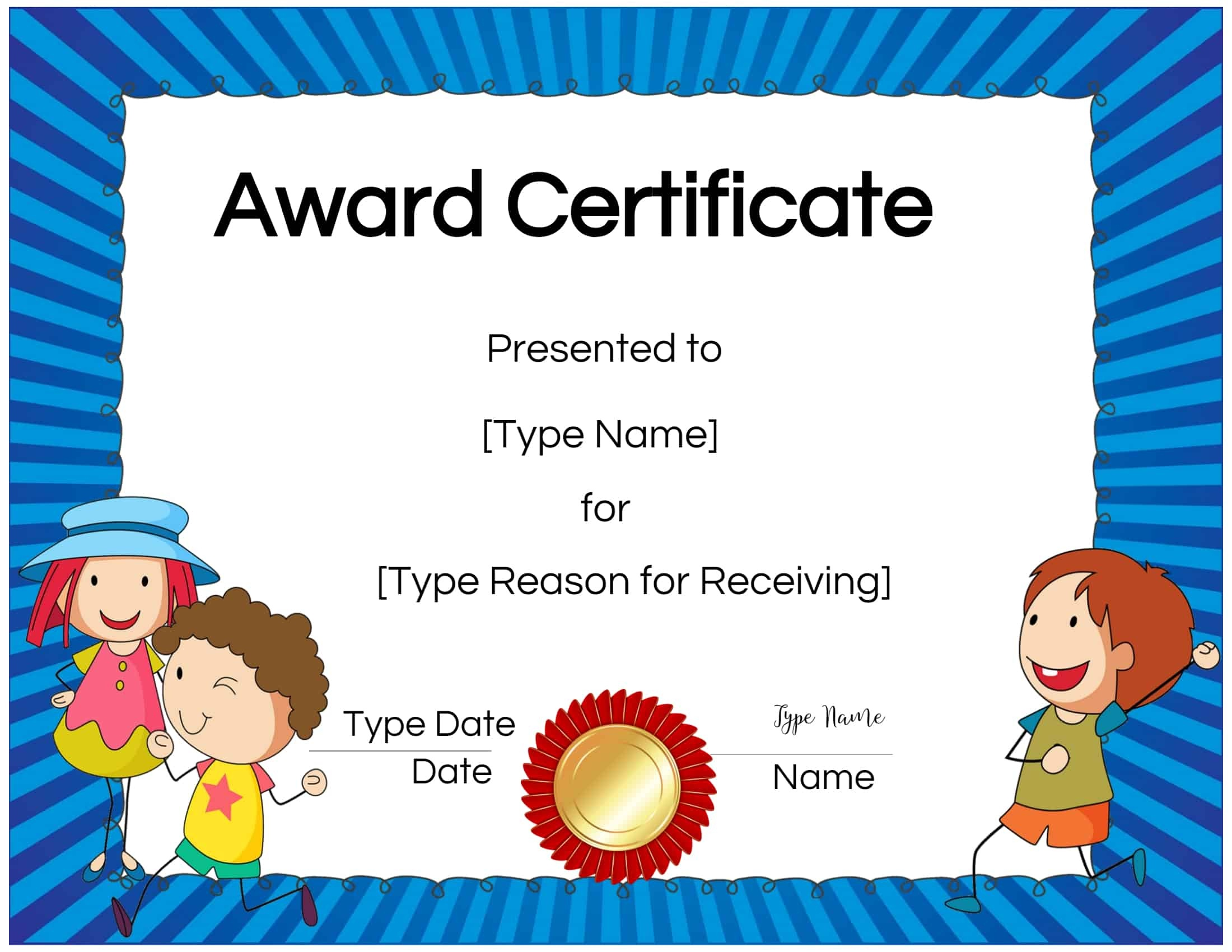 Free Custom Certificates For Kids | Customize Online & Print At Home - Free Printable Honor Roll Certificates Kids