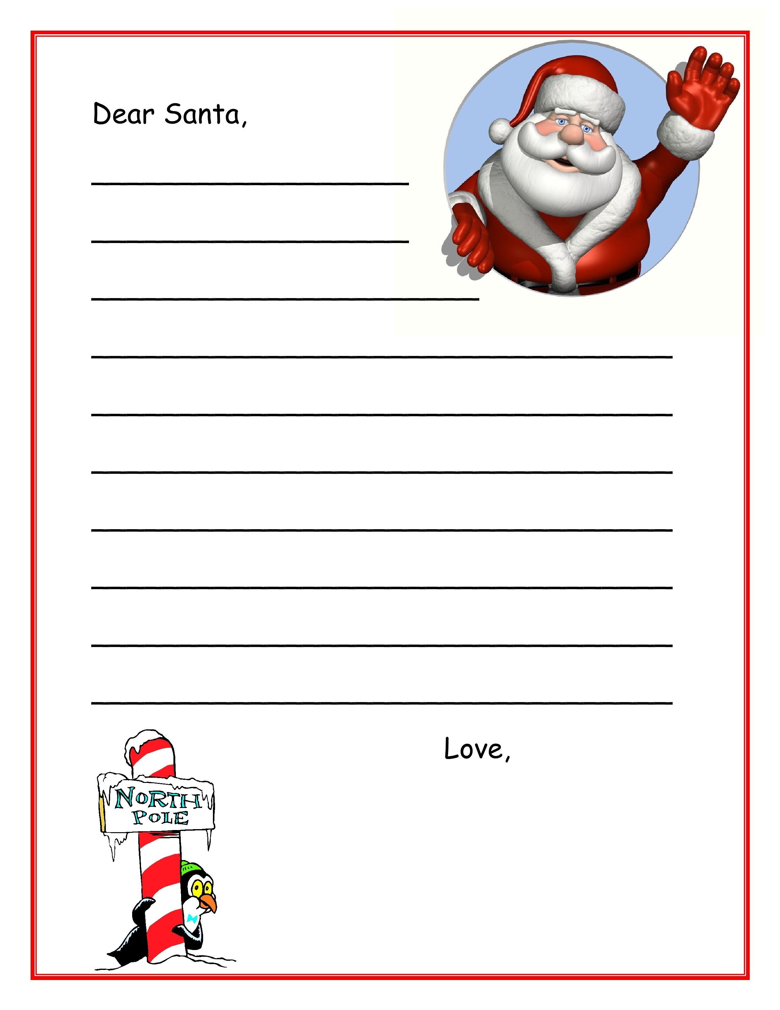 Free Dear Santa Letter Template Download | Posters For The Walls - Free Printable Dear Santa Stationary