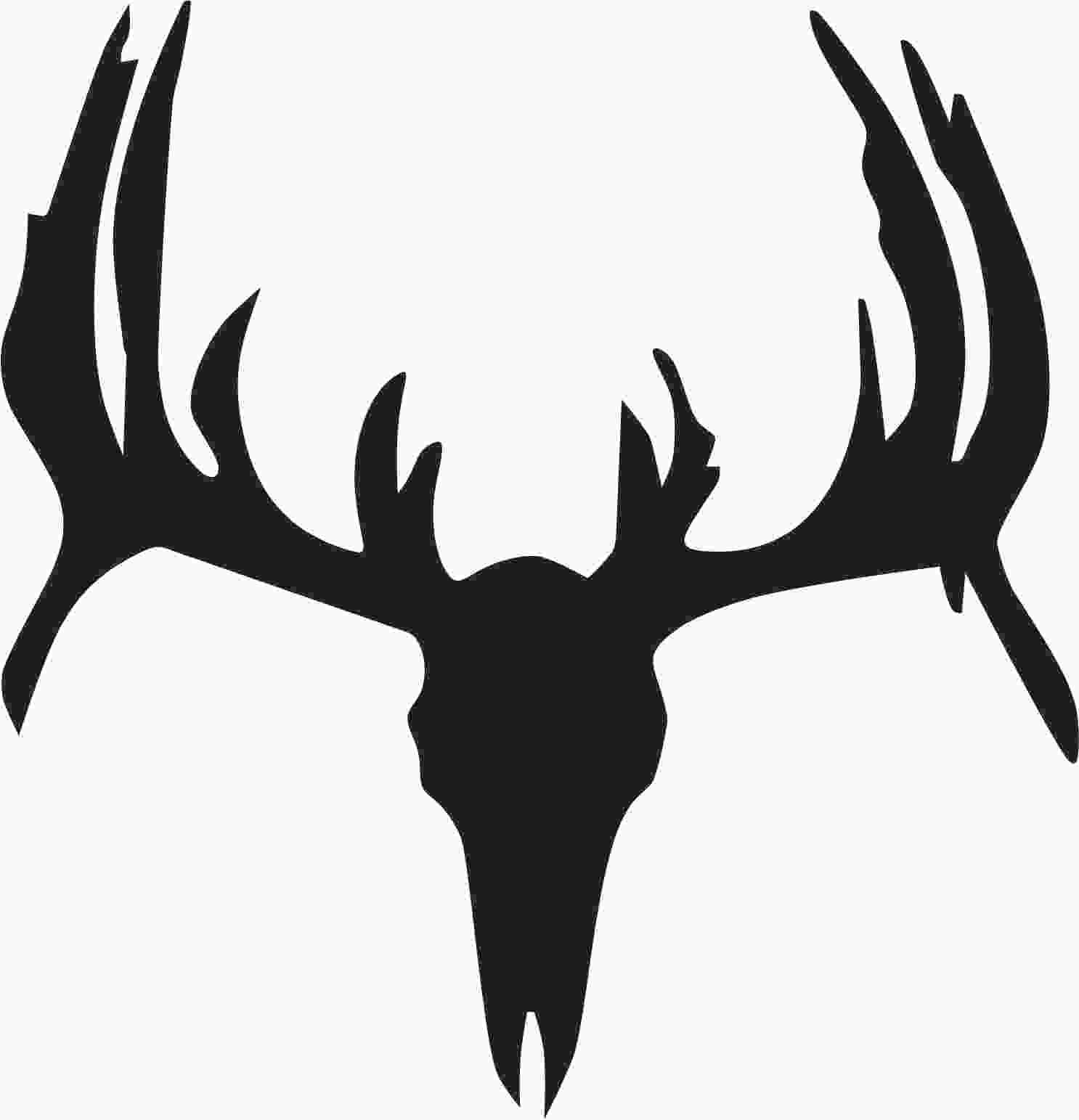 Free Deer Skull Stencil, Download Free Clip Art, Free Clip Art On - Free Printable Deer Pumpkin Stencils