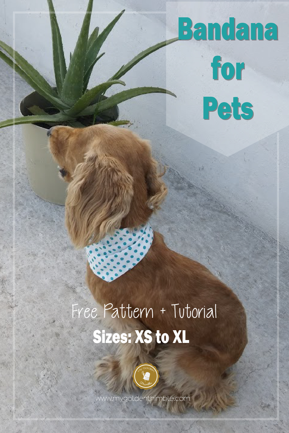 Free Dog Bandana Pattern Diy: For All Sizes!   Crafty   Sewing - Free Printable Sewing Patterns For Dog Clothes