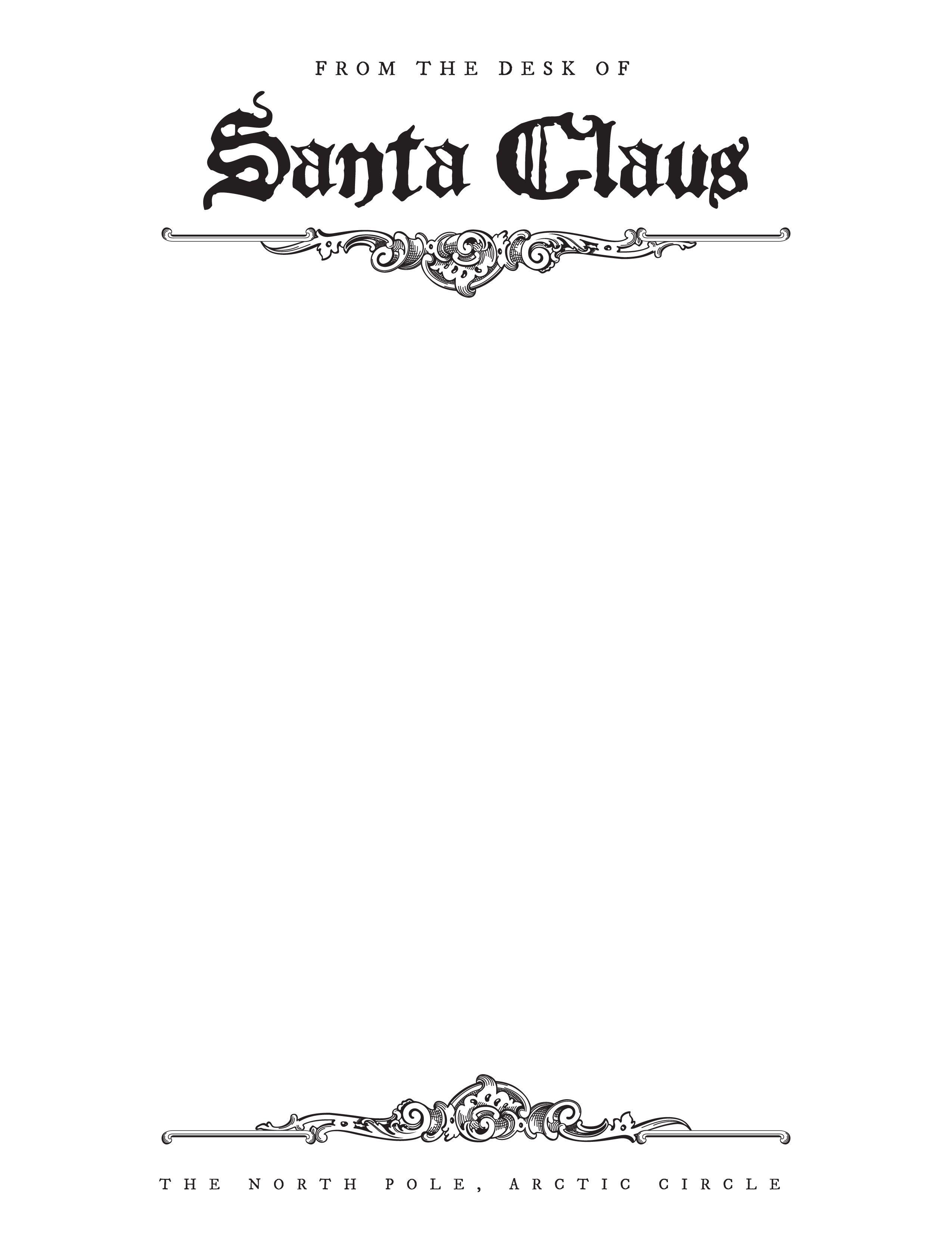 Free Download | Christmas | Santa Letter Printable, Santa Letter - Free Printable Dear Santa Stationary
