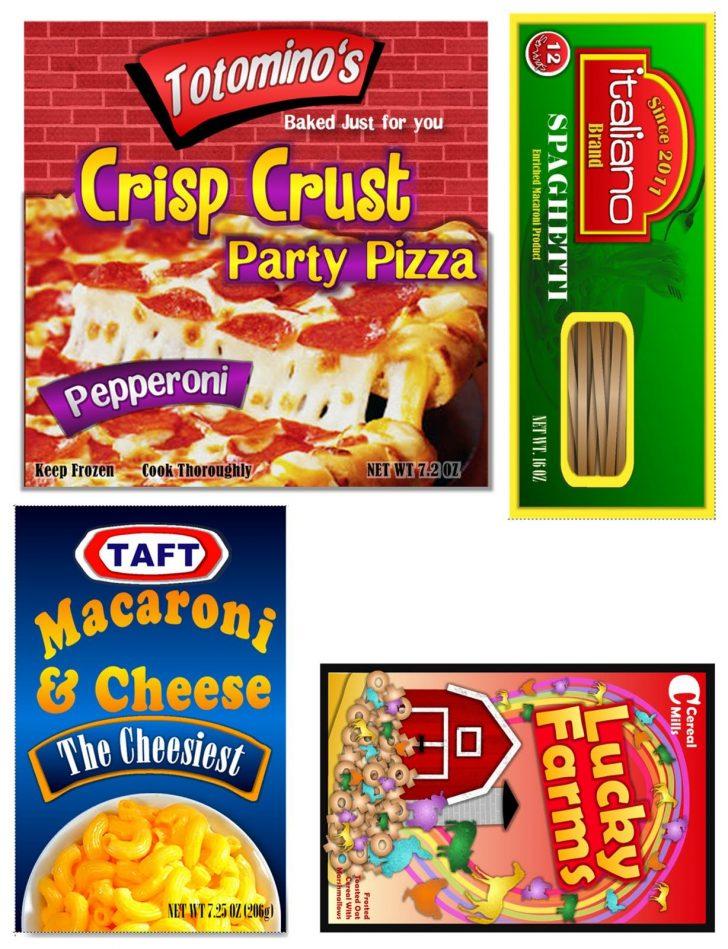 Free Printable Play Food Labels