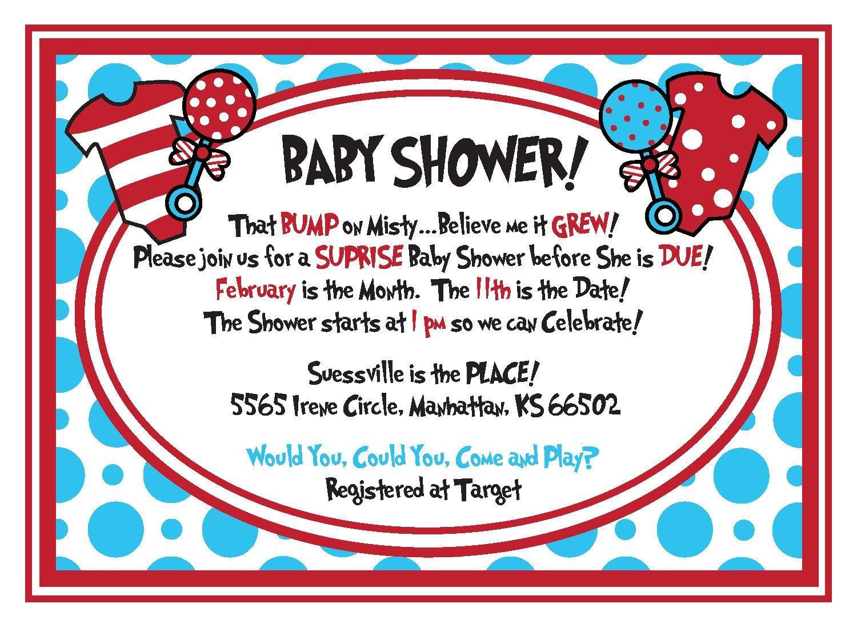 Free Dr.seuss Baby Shower Invitation - Psd   Free Printable - Dr Seuss Free Printable Templates
