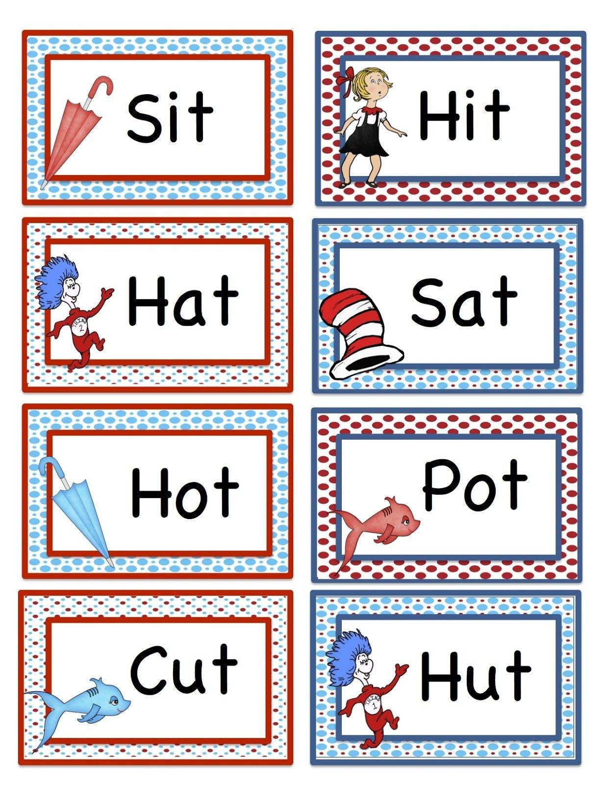 Free Dr Suess Printables Preschool Seuss Rhyming Printable - Free Printable Dr Seuss Math Worksheets