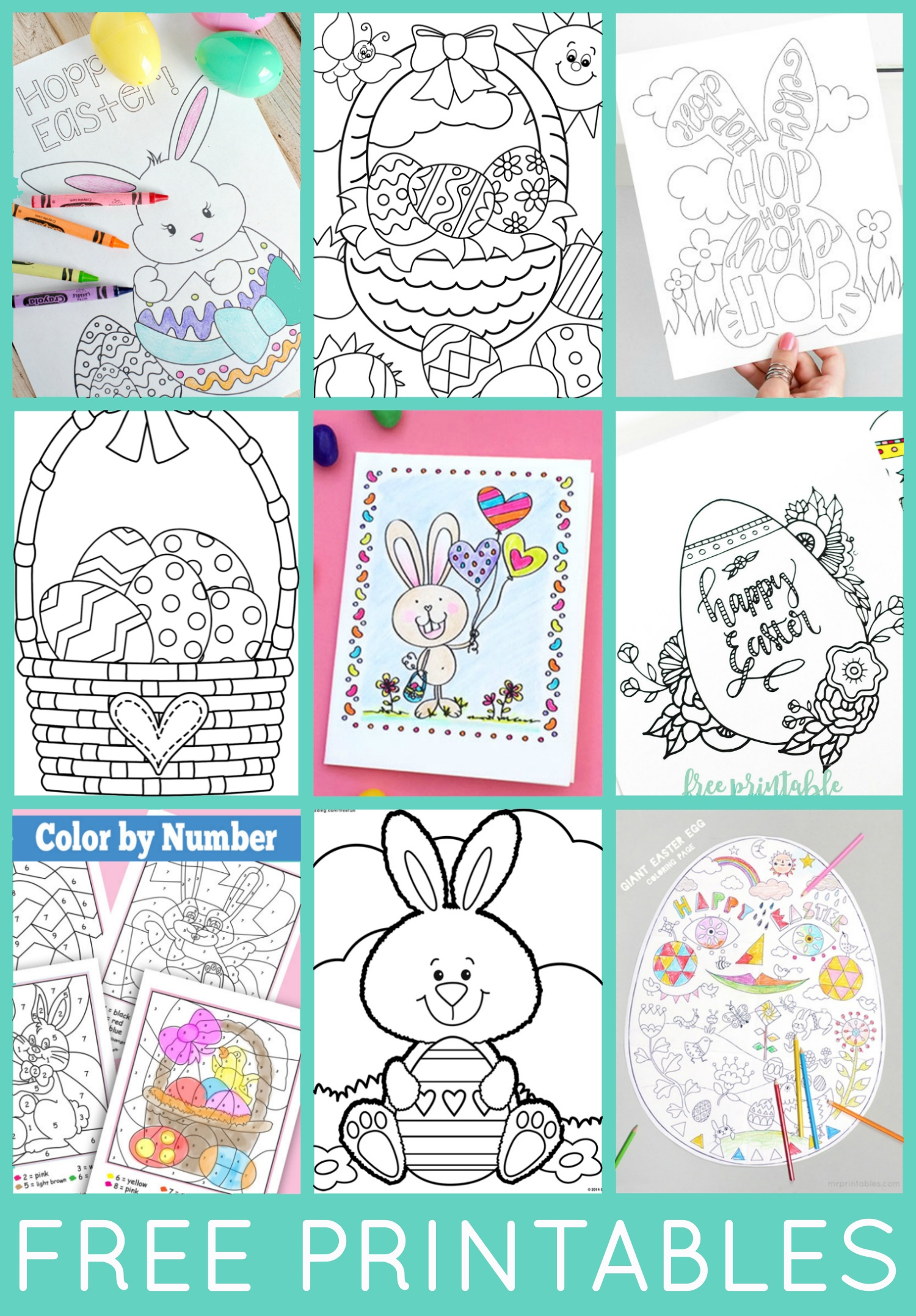 Free Easter Coloring Pages - Happiness Is Homemade - Free Printable Pictures