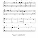 Free Easy Solo For Piano With The Melody Jesu, Joy Of Man's Desiring   Beginner Piano Worksheets Printable Free