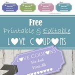 Free Editable Love Coupons For Him Or Her - Free Printable Coupon Book For Boyfriend