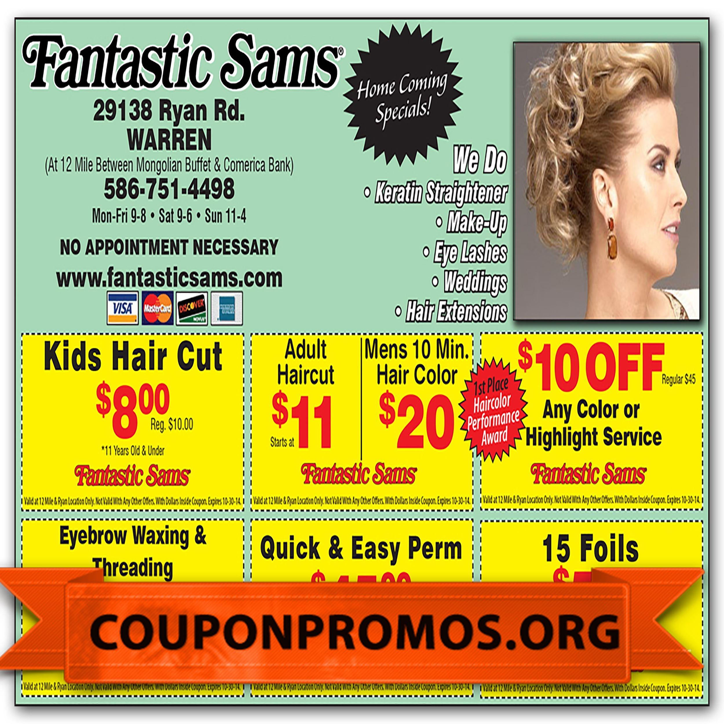 Free Fantastic Sams Discount Coupons Printable For November December - Free Printable Coupons For Fantastic Sams